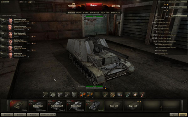 World of Tanks Hummel